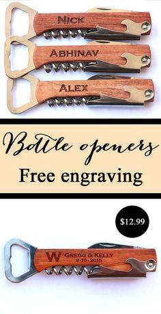 Groomsmen Gift Personalized Wine Opener Bridesmaid Gifts
