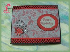 Floral birthday card- hand made