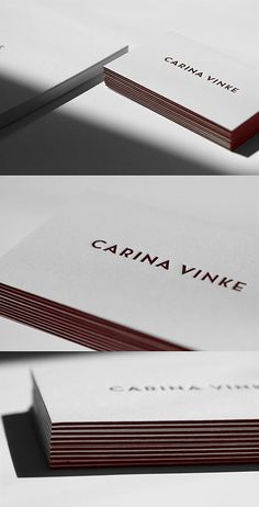 This business card really evokes quality, the minimal design works very well in achieving a high quality look which would be very re-assuring to a potential client. I also think that the use of colour works very well in making the key information really stand out from the rest of the card.