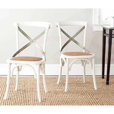 Safavieh Eleanor X Back Side Chair, Set of 2, Multiple Colors