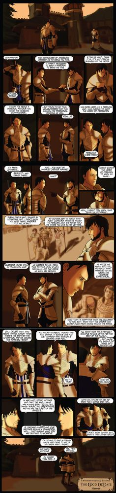 DAO: TGOD - Heroes by Abadir on deviantART<<< I wanted so badly for Hawke to be able to have this type of conversation with Carver before the expedition... SO many things left unsaid in DA2...