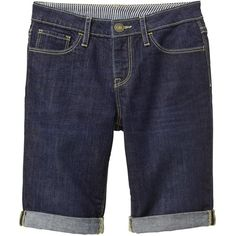 1969 denim bermuda shorts (37 BRL) ❤ liked on Polyvore featuring shorts, denim bermuda shorts, denim shorts and bermuda shorts