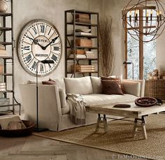 Large clock from Restroation Hardware