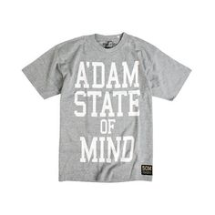 State Of Mind - A'dam SOM, Classic Grey White - € 29,00 #Streetwear #T-shirts #State Of Mind #Amsterdam