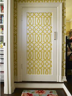 Really great pattern and color. & Cut-and-Paste Makeovers | Pinterest | Doors Wallpaper and Closet doors