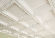 DIY Coffered Ceiling - Armstrong Residential Ceiling tiles