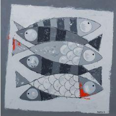 six poissons gris