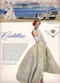 Cadilliac ad - dress by Lanvin-Castillo
