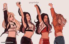 South Korean Girls, Korean Girl Groups, Kpop Girl Groups, Mamamoo Kpop, Lexa Y Clarke, Vkook Memes, Best Friend Drawings, Mode Kpop, Kpop Drawings