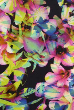graphic tile, floral pattern, multi-colour