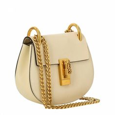 0d22e5b480cb Chloe White Mini Leather Drew Shoulder Bag. BrandAlley