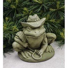 Campania International, Inc Cowboy Frog Statue Color: