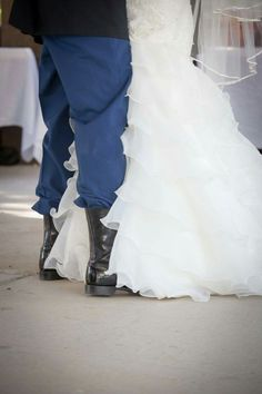 Loooove the picture of the boots, ESPECIALLY since my groom has the same ones!