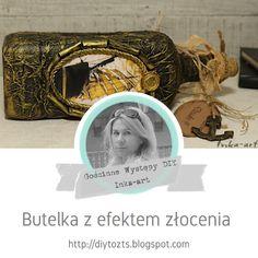 DIY - zrób to sam : GOŚCINNE WYSTĘPY / Inka-art / Butelka z efektem zł... Decoupage, Personalized Items, Frame, Diy, Decor, Handgun, Picture Frame, Bricolage, A Frame