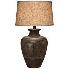 Brighton hammered pot bronze table lamp style x4785 southwest dark beige sable southwest table lamp aloadofball Image collections