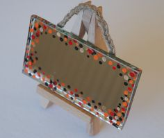 dotty hand painted mirror