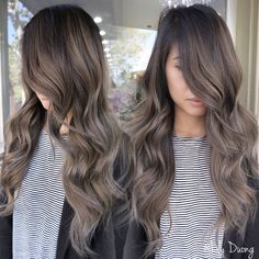 45 stunning ash brown hair color ideas for summer - page 25 of 45 74 Ash Brown Hair Color, Brown Blonde Hair, Hair Color And Cut, Dark Hair, Ash Brown Ombre, Hair Color Balayage, Ashy Balayage, Balayage Highlights, Ash Brown Hair Balayage