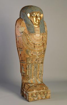 Egyptian , Late Dynastic or Early Greco-Roman Period  Mummy Coffin of Pedusiri, ca. 500–250 BC  Plastered, polychromed, and gilded wood  84 x 30 3/4 x 13 3/4 in. (213.36 x 78.11 x 34.93 cm)  Purchase M1967.20   Photo credit Michael Tropea