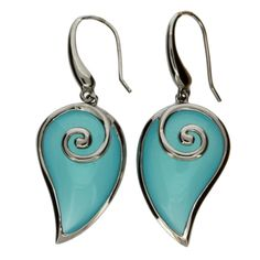 Purple Leopard Boutique - Abstract Shaped Aqua Crystal Sterling Silver Earrings Rhodium , $99.00 (http://www.purpleleopardboutique.com/abstract-shaped-aqua-crystal-sterling-silver-earrings-rhodium/)