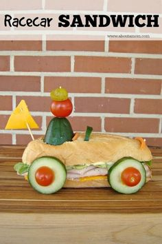 Race Car Sandwich