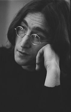 """"""" John Lennon by Ethan Russel """" Black And White People, Black White Photos, Black And White Photography, Photography Words, Vintage Photography, Portrait Photography, People Photography, Urban Photography, Color Photography"""