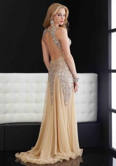 Long Prom Dress Sweetheart Collar Backless Beads Organza Dress Evening  Dress Party Dress on Luulla d9404ec3482f