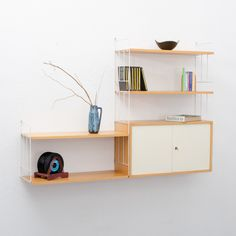 1960s wall rack with container by WHB, ash