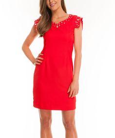 Look at this #zulilyfind! Red Always Sheath Dress by Almatrichi #zulilyfinds