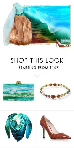 """Mimicry - Beach Series 4/5 Waves"" by love-n-laughter ❤ liked on Polyvore featuring Edie Parker, Ippolita, Leona Lengyel and Nancy Gonzalez"