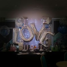 We 'love' these balloons and can spell out anything you like! vipballoons.co.uk