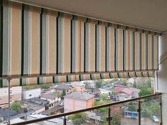 Ai balconul expus la soare sau ploua in balcon. Monteaza o Copertina Verticala care se poate distanta fata de balustrada 50 de cm. Copertine Retractabile Balcony Blinds, Curtains, Outdoor Decor, Home Decor, Balconies, Blinds, Decoration Home, Room Decor, Draping