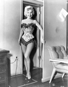 Marilyn Monroe in Corset with Fringe Premium Art Print