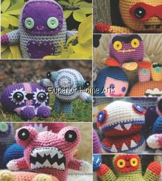 Crochet Bakemono Monsters Amigurumi Patterns Book Easy Creatures - Dolls & Toys