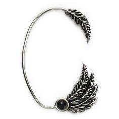 Pamela Love | Feather Ear Cuff with Onyx