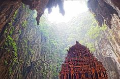 Cathedral Cave in the Batu Caves, north of Kuala Lampur, Malaysia via @legalwayfarer