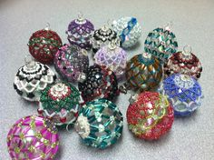 Beaded Mini Ornaments! I just love making Ornaments and these little ones are no exception!