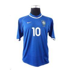 Rivaldo #10 Brazil Away 2000-2001