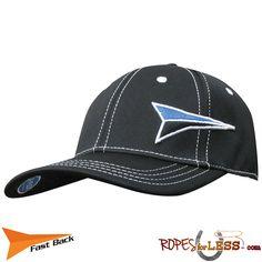 cfcef704c Fast Back Ball Cap Fitted Black Sport Mesh