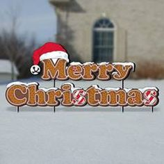 11-2444 - Gingerbread Merry Christmas Yard Art Woodworking Plan