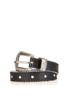 Ball and Chain Stud Western Belt