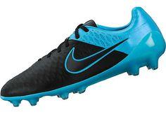 4e2c13c35c80 Nike Magista Opus Leather FG Soccer Cleats - Black and Blue - SoccerPro.com