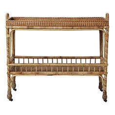 Bar Cart  If no bamboo coffee table  The side table of this would work too!