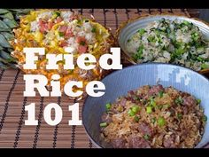 How to Make Any Fried Rice - Three Flavors and Recipes (沙茶牛肉炒饭/菠萝炒饭/菜心炒饭) - YouTube
