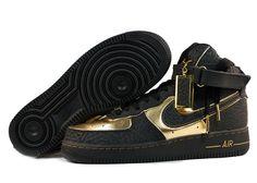 sale retailer 5a713 c1bd3 Nike Air Force 1 High Black And Gold Air Force 1 High, Black Nike Shoes