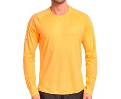 Nike Men's Miler Long-Sleeve UV Top - Orange