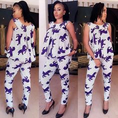 Top Unique Ankara Jumpsuit You Should Rock To Your Next Party - Wedding Digest Naija African Print Fashion, Africa Fashion, African Fashion Dresses, Indian Dresses, Fashion Outfits, African Attire, African Wear, African Women, African Dress