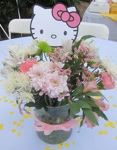 Hello Kitty Party centerpiece