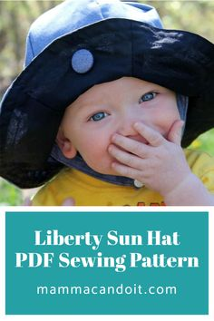 Keep the sun out of everyone in the families eyes. This pattern is for Nb all the way through XXL Adult! #pdfsewingpatterns #sewing #mammacandoit Baby Clothes Patterns, Baby Patterns, Clothing Patterns, Onesie Pattern, Baby Pants Pattern, Floppy Sun Hats, Hat Making, Pdf Sewing Patterns, Baby Sewing