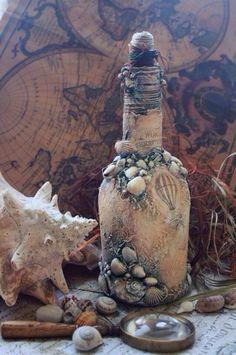 Подарочное оформление бутылок ручной работы. Ярмарка Мастеров - ручная работа…