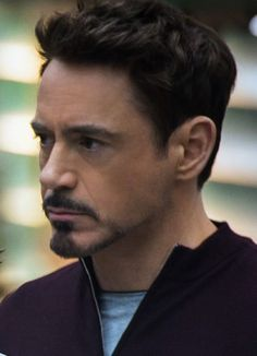 Tony Stark and his beautiful profile.